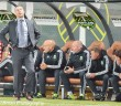 Caleb Porter and the Timbers' coaching staff look on as their team falls 1-0 at home to Sporting Kansas City.